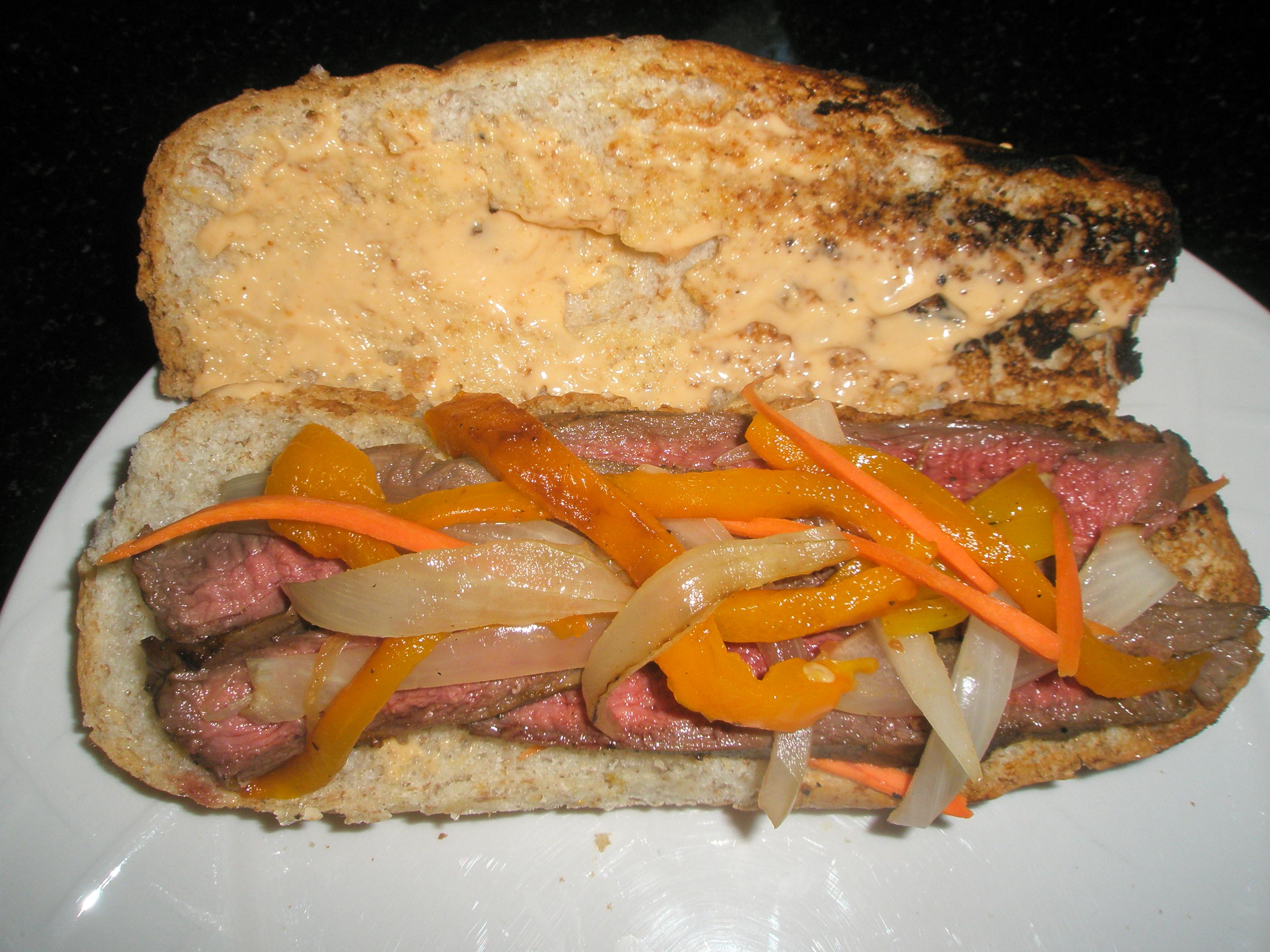 grilled steak sandwich | Kitchen Bitch
