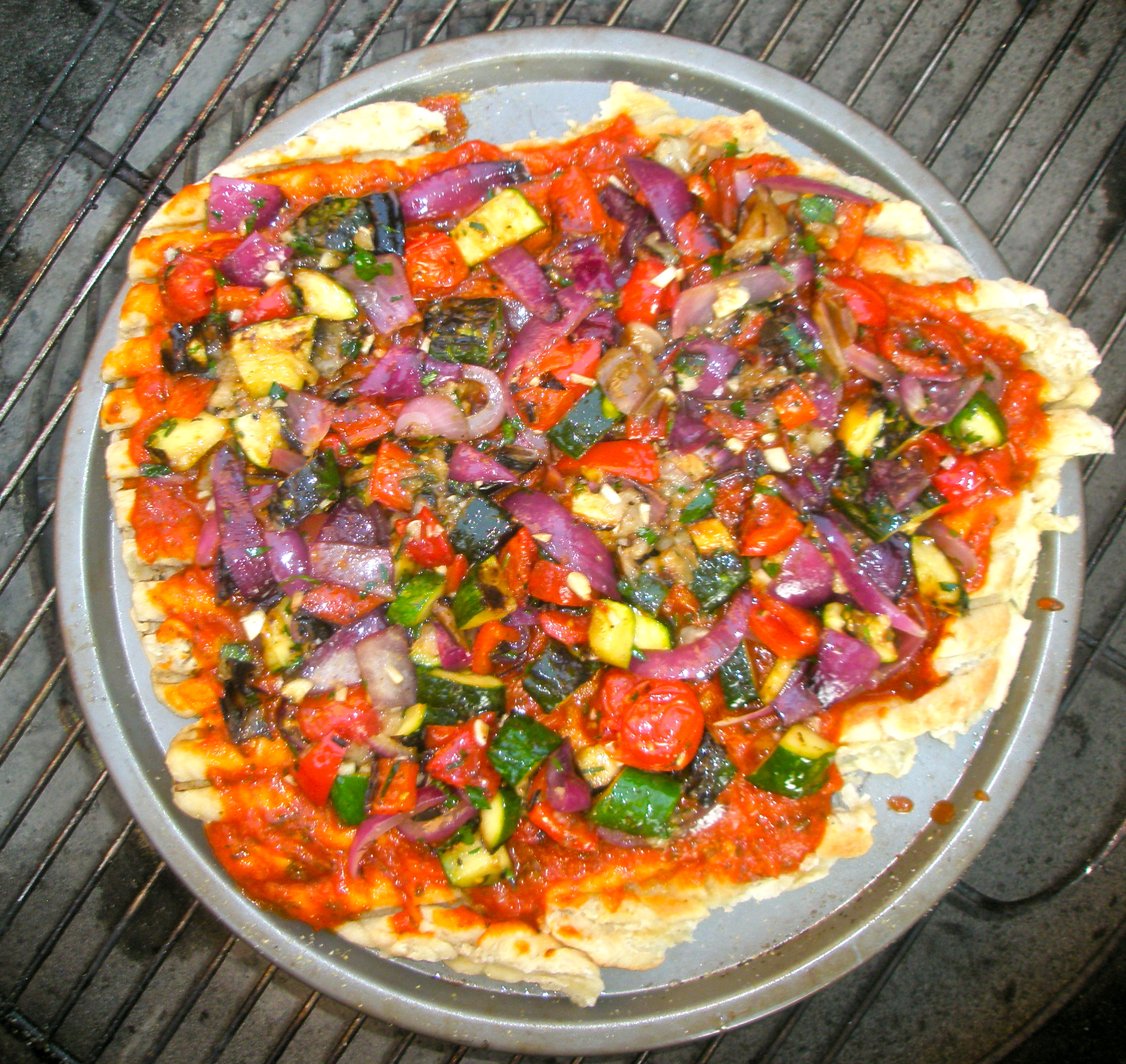 From the Garden: Rustic Ratatouille Pizza | Kitchen Bitch