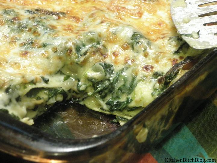 Spinach Lasagna Close Up