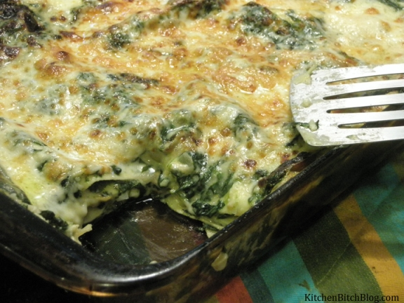 White Spinach and Mushroom Lasagna