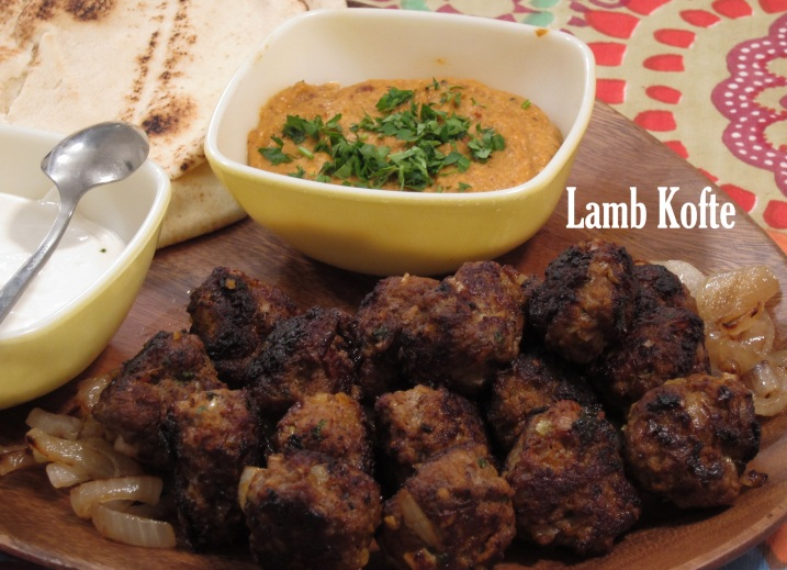 Lamb Kofte With Yogurt Sauce And Muhammara Recipe — Dishmaps