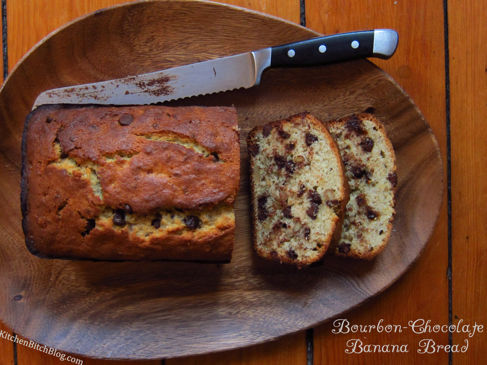 Mommom's Chocolate Bourbon-Spiked Banana Bread Recipe ...