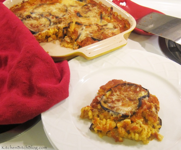 Eggplant Mozzarella and Saffron Bake