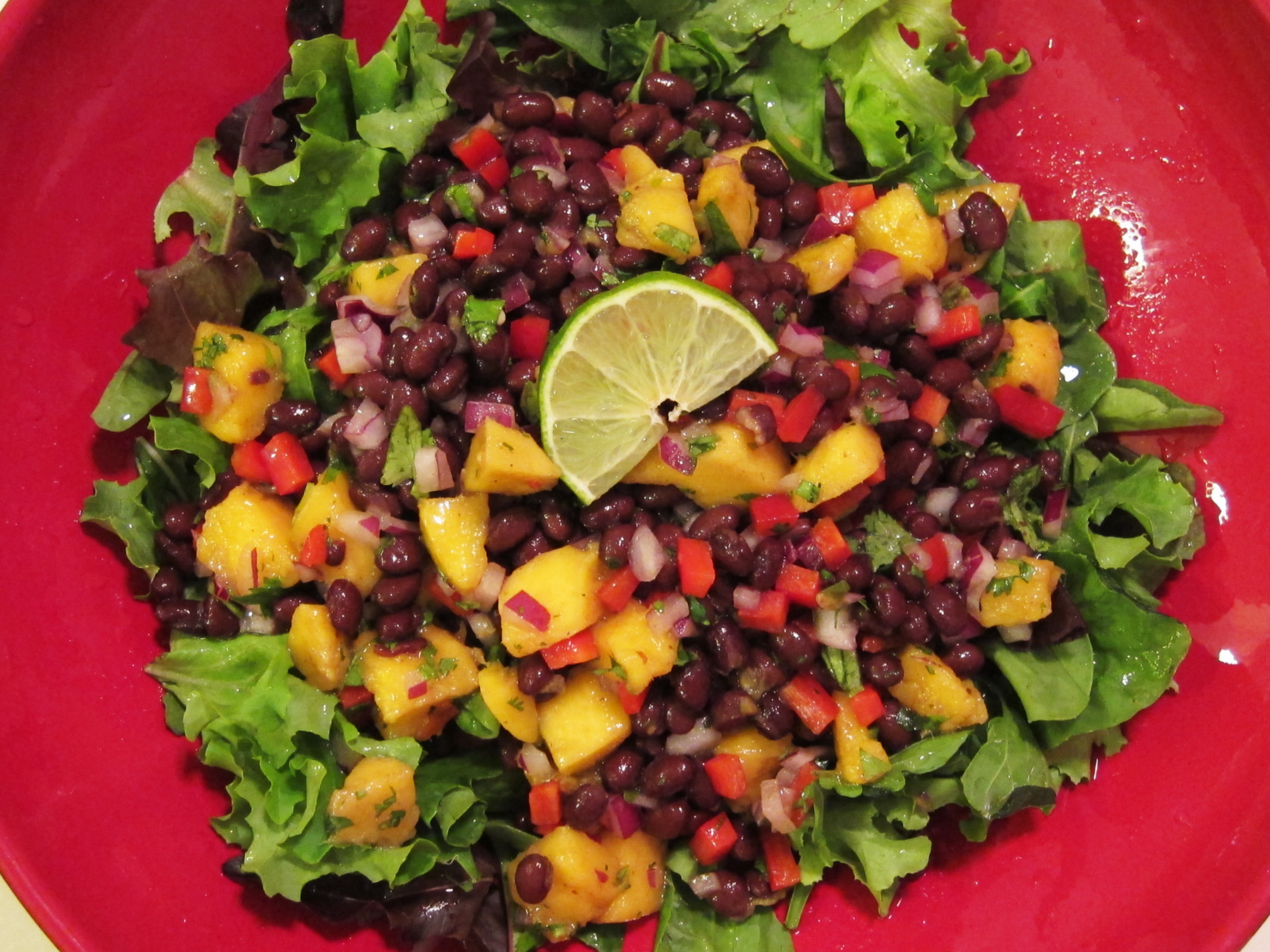 Taste of the Tropics: Mango-Black Bean Salad with Lime Vinaigrette ...