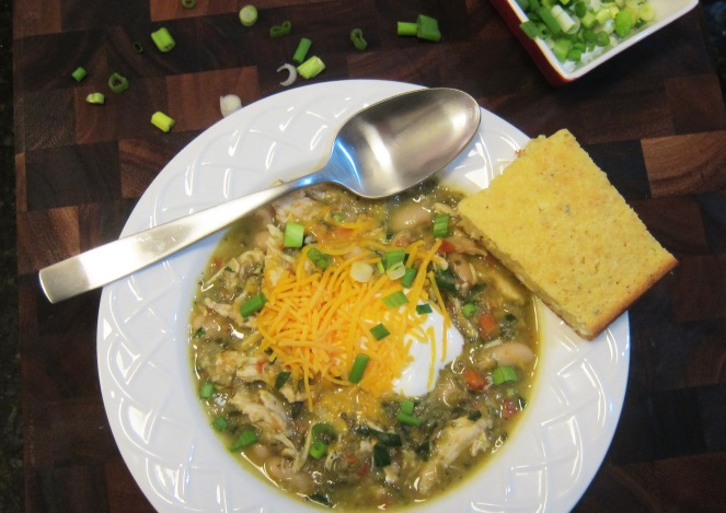 Southwestern White Bean Chicken Chili